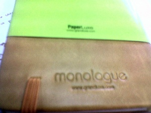 monologue vs. moleskine